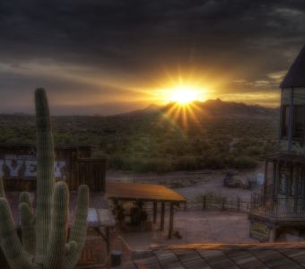 Catch a Sunset at Goldfield Ranch