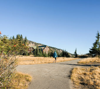 Whether you're running or walking, the landscape at Crater Lake National Park is always stunning.